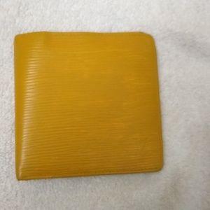 Auth Louis Vuitton Epi Leather Wallet, Nice Vint